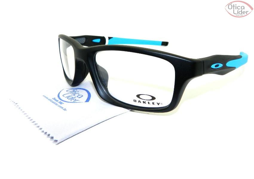6f0c21ad2 Oakley OX 8030 0155 55 Acetato Crosslink Preto / Azul - 12x sem ...