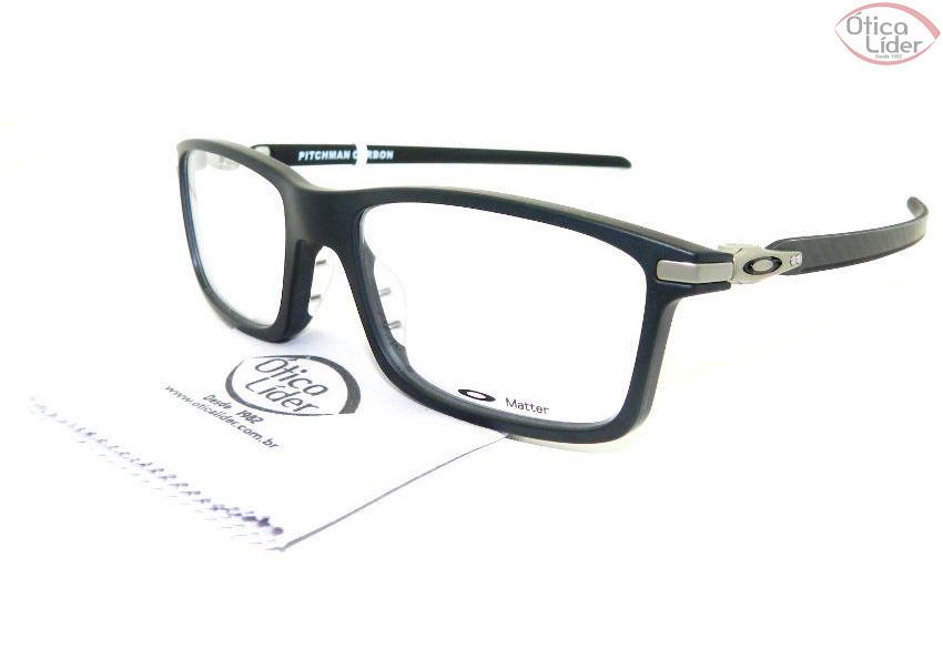 76e58b7c7570c Oakley OX 8092 0155 55 Pitchman Acetato Preto - 12x sem juros ou 20 ...
