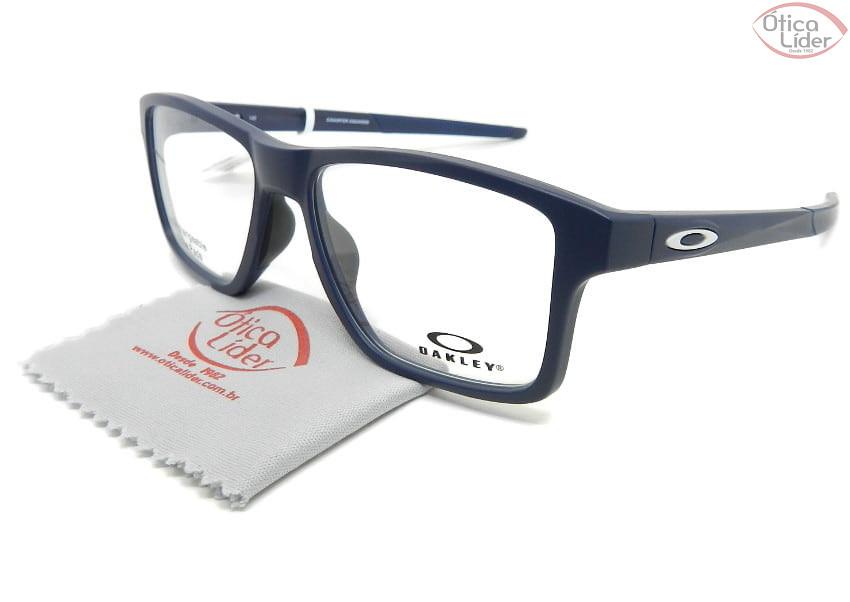 Oakley Chamfer Squared OX8143 0454 54 Acetato Azul Marinho
