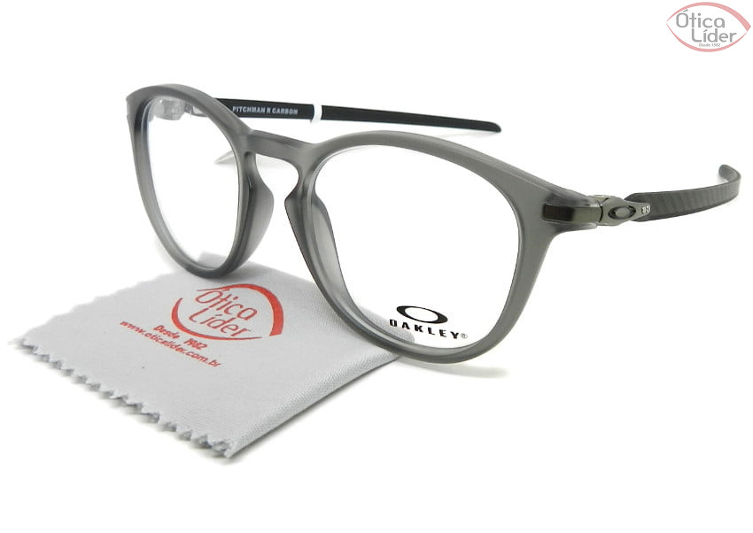 Oakley Pitchman R Carbon OX8149 0250 50 Acetato Cinza / Fibra Carbono