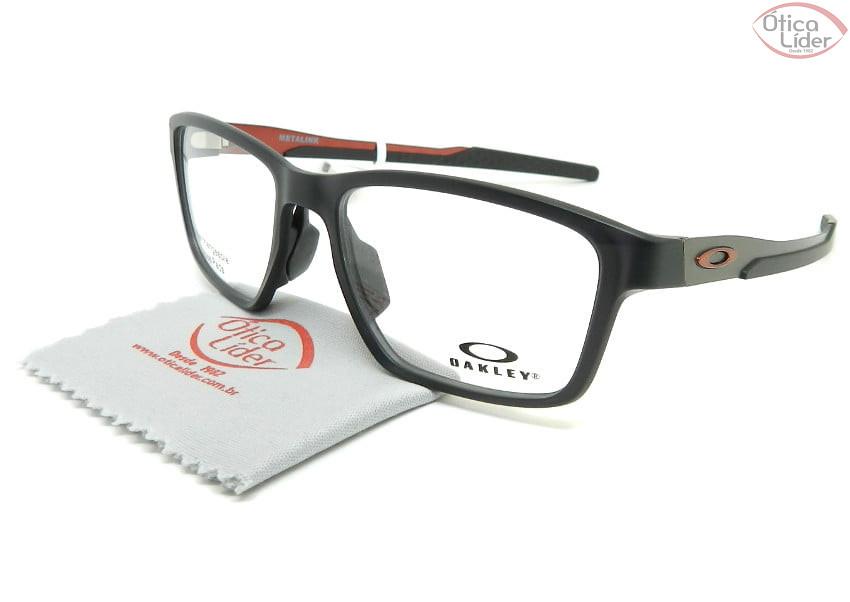 Oakley Metalink OX8153 0555 55 Acetato Cinza / Metal Grafite