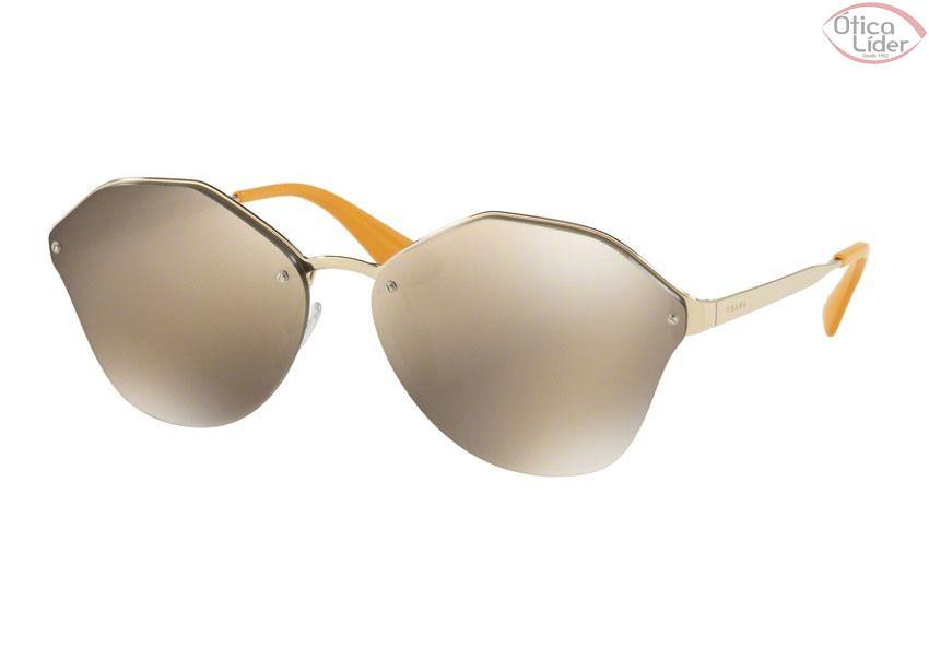 Prada PR 64ts zvn 1c0 66 Metal Dourado   Espelhado Dourado - 12x sem ... b7f416191b