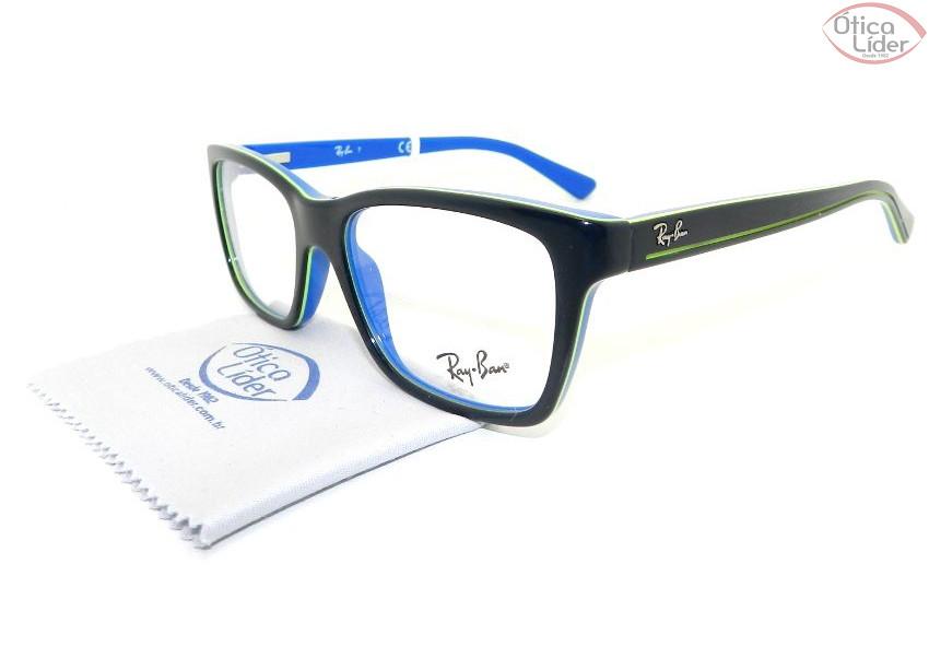 eacf5b2b2cb1b Ray-Ban RY1536 3600 48 Infantil Acetato Azul Marinho   Verde - 12x ...
