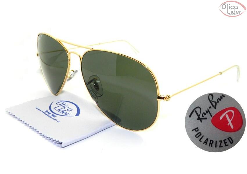 a5e1a13098688 Ray-Ban RB3025 001 58 62 Aviador Metal Dourado Polarizado - 12x sem ...