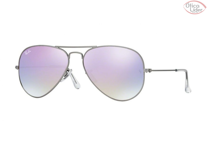 28db4cbbd79b8 Ray-Ban RB3025 019 7x 58 Aviador Metal Prata Lente Lilás Degradê ...