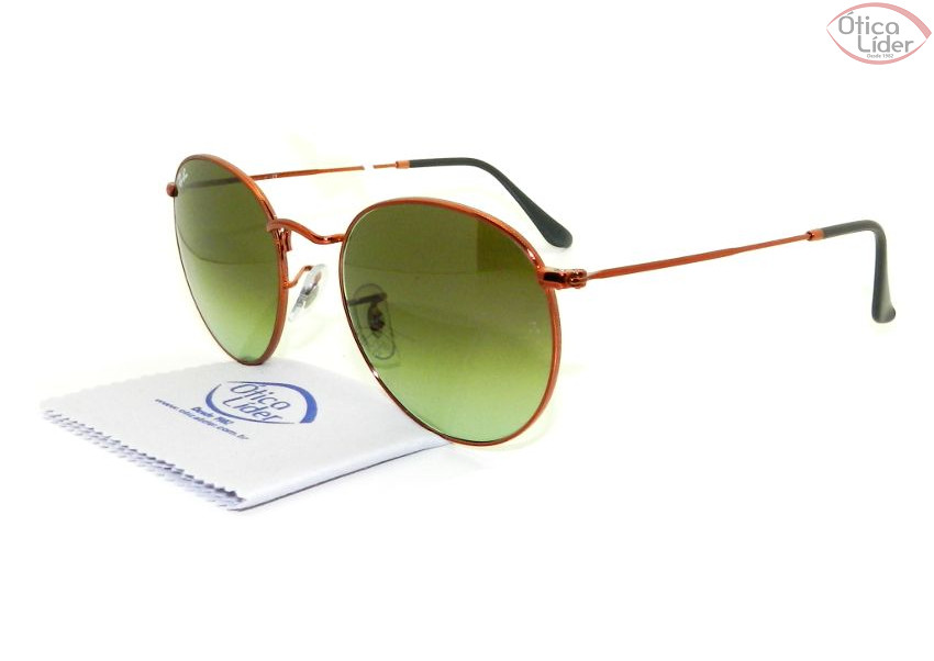 Ray-Ban RB3447 9002/a6 53 Round Metal Bronze