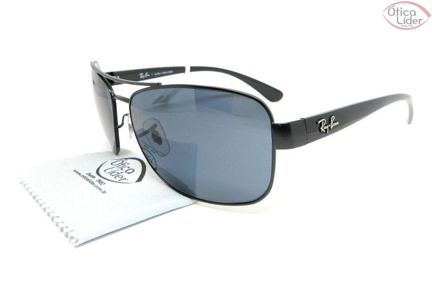 Óculos de Sol Ray-Ban RB3518l 006 87 63 Metal   Acetato Preto - 12x ... f6dc8d893a
