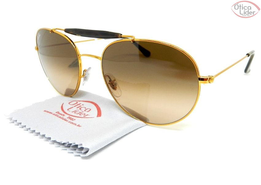 Ray-Ban RB3540l 9001a5 56 Caçador Metal Dourado / Acetato Mesclado