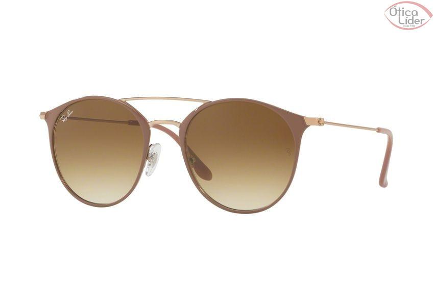 óculos De Sol Ray Ban 3321 Dourado Com Lentes Marrom   Southern ... b136e92f57