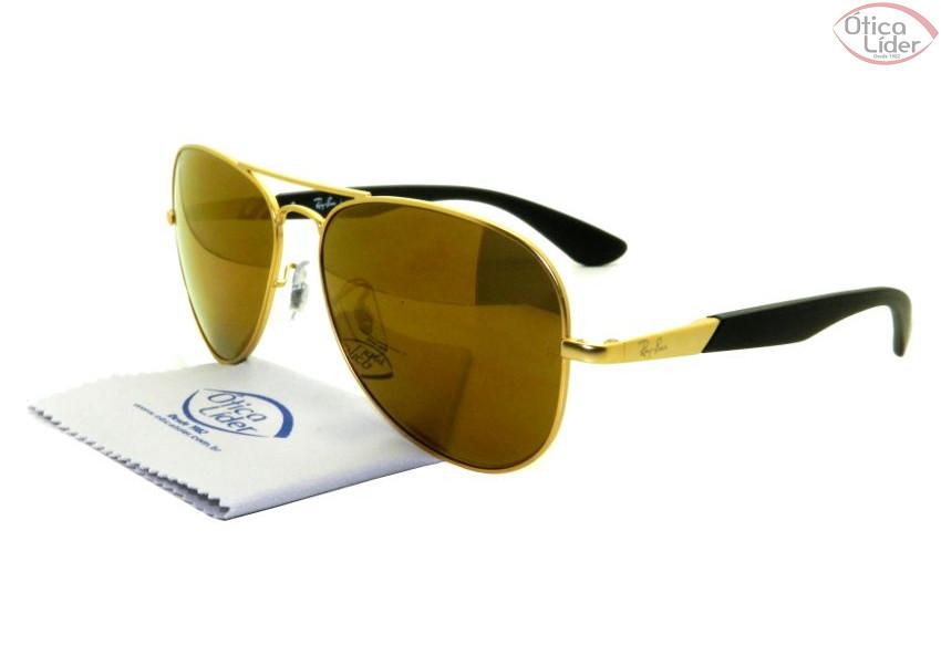 Ray-Ban RB 3554l 112 7d 58 Aviador Metal Dourado   Preto Espelhado ... 3418f4f5dc