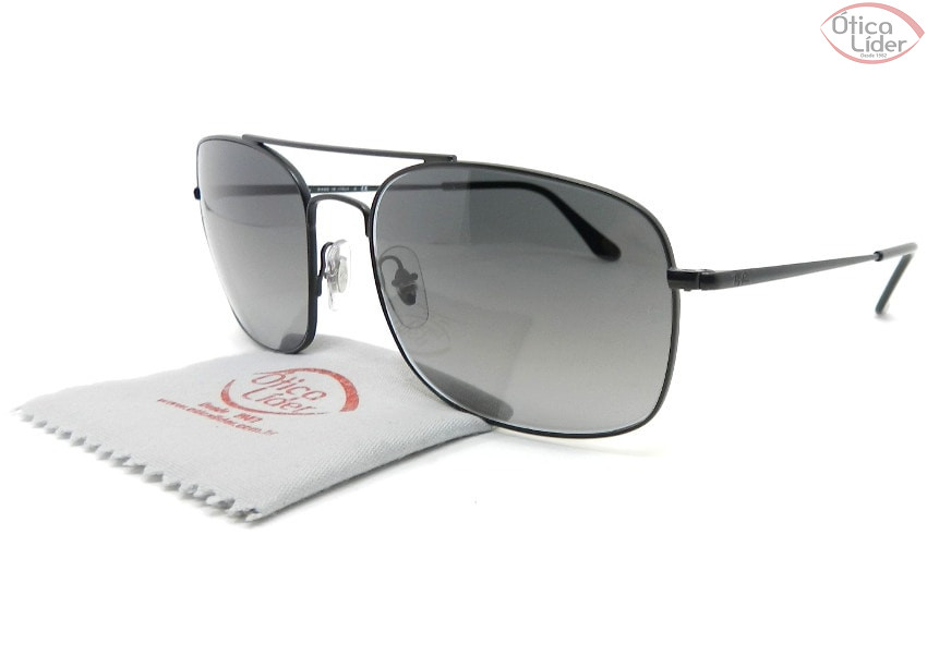 Ray-Ban RB3611 006/71 60 Quadrado Metal Preto