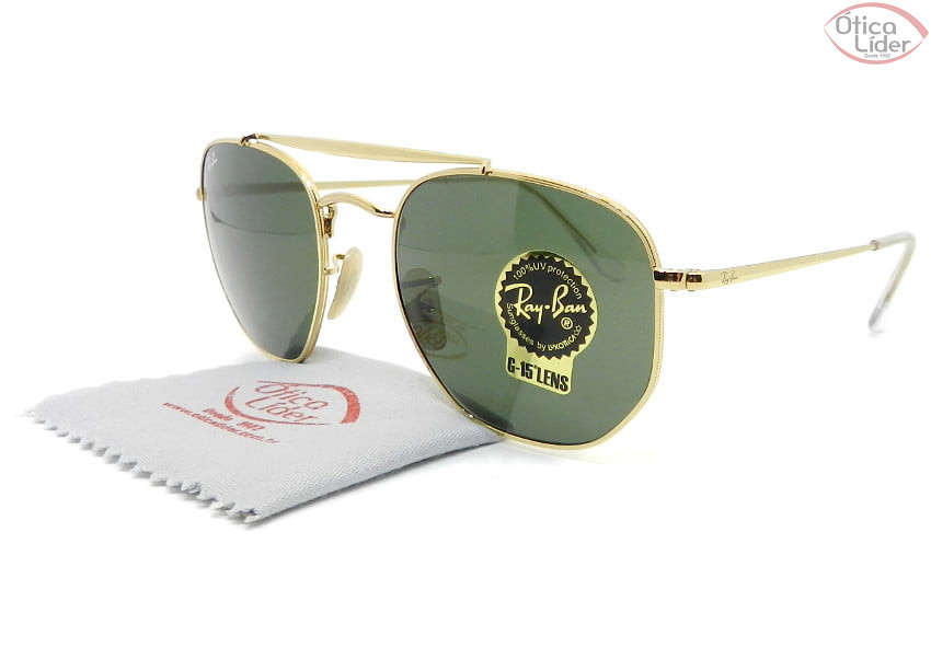 Ray-Ban The Marshal RB3648 001 54 Metal Dourado G15
