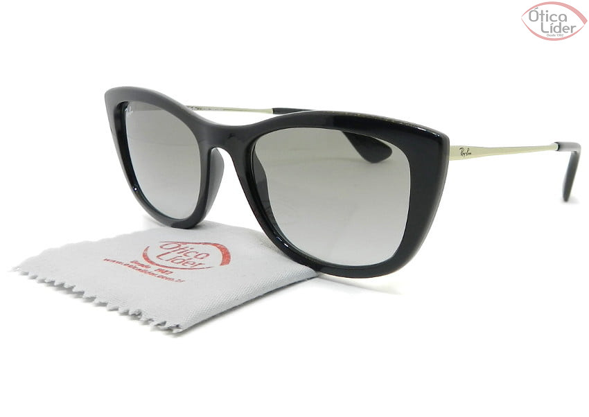 Ray-Ban RB4327l 601/11 54 Acetato Preto / Metal Dourado