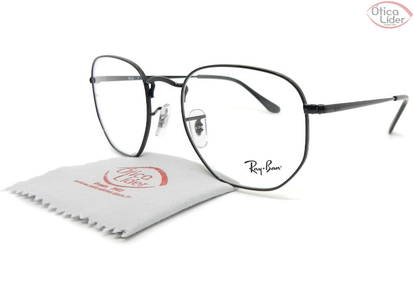 Ray-Ban RX6448 2509 54 Hexagonal Metal Preto
