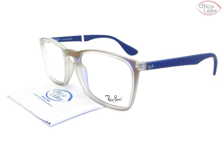 Ray-Ban RX7045l 5486 55 Acetato Transparente / Roxo