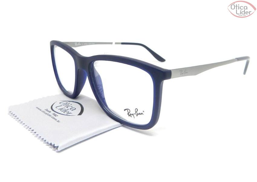 Ray-Ban RX7061l 5451 54 Acetato Azul   Metal Prata - 12x sem juros ... 4ea48b3f43