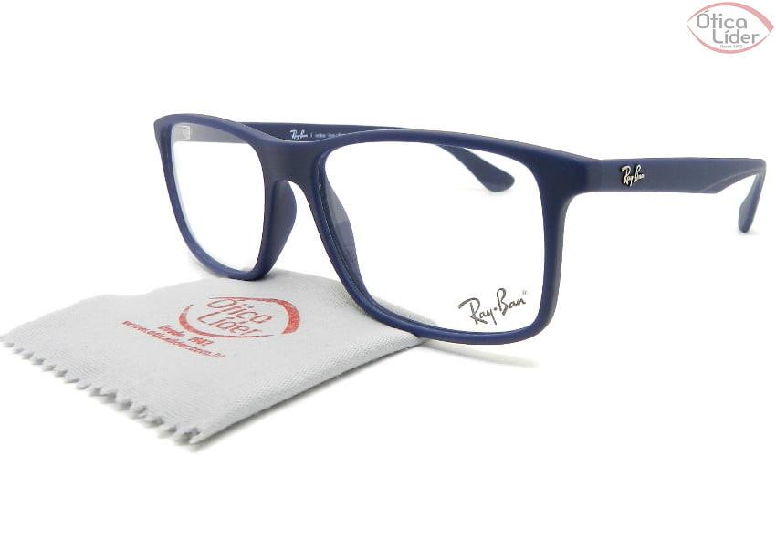 Ray-Ban RX7120l 5412  55 Acetato Azul Marinho