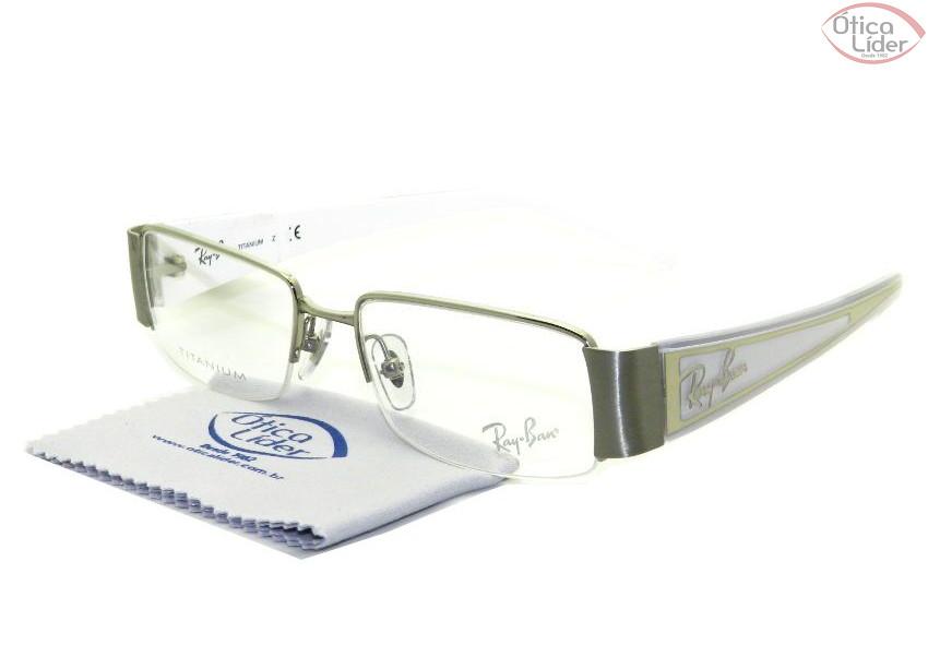 Ray-Ban RX8625 1002 50 Titanium Prata / Branco