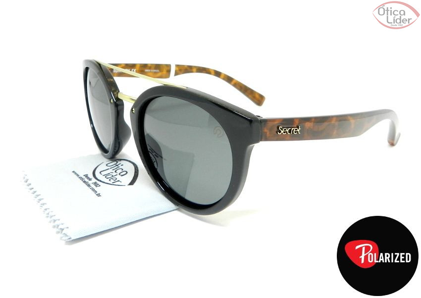 Secret SE 96639859 50 Queens Acetato Preto   Demi   Metal Dourado ... 0a05eb7038