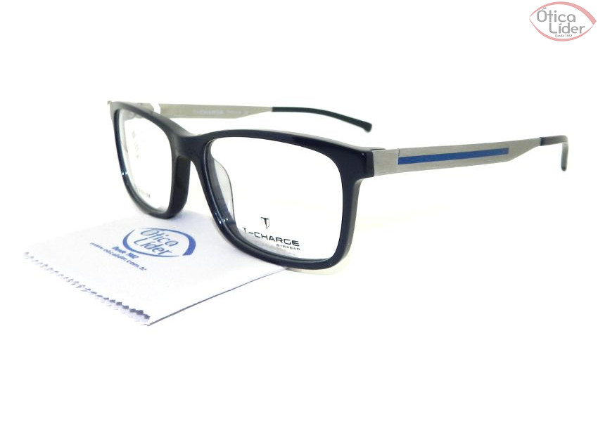a9ce563987ecf T-Charge TC 6049 d01 56 Acetato Azul Marinho   Titanium Prata - 12x ...