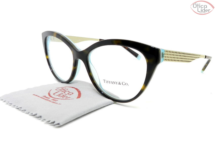 Tiffany & Co. TF2180 8275 54 Acetato Havana e Azul / Metal Dourado