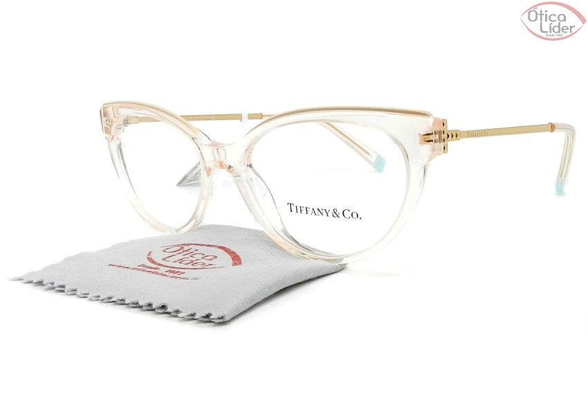 Tiffany & Co. TF2183 8278 52 Acetato Rosa Cristal / Metal Dourado