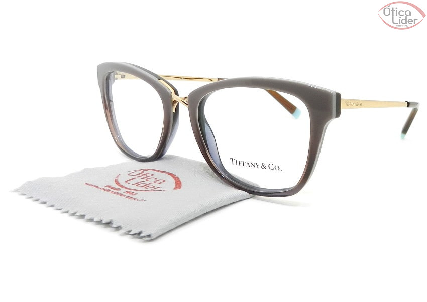 Tiffany & Co. TF2186 8277 52 Acetato Marrom / Metal Dourado