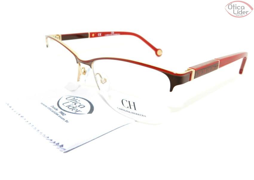 Carolina Herrera VHE 079 0sb1 53 fny Metal Vermelho   Dourado - 12x ... 18c1ed9747