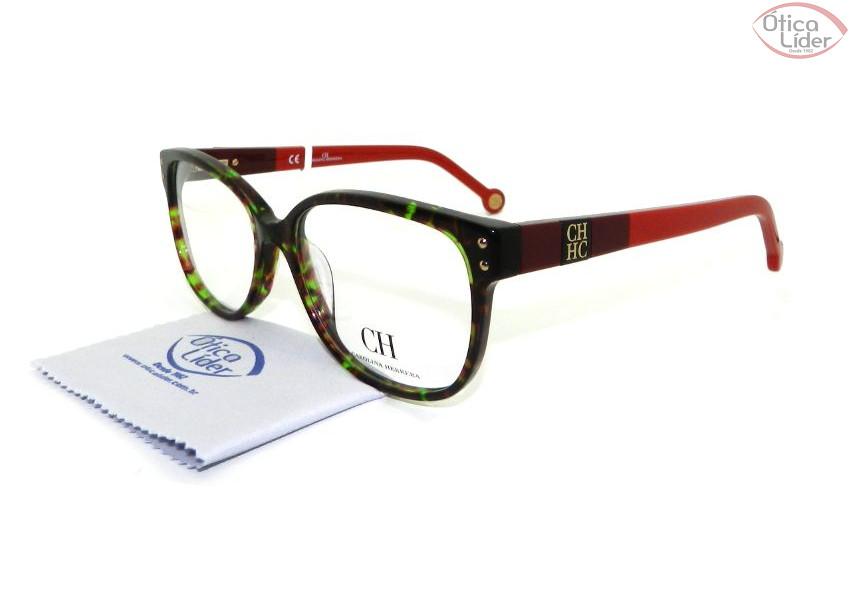 Carolina Herrera VHE 581 0713 54 Acetato Verde Mesclado   Vermelho ... 5daf801561