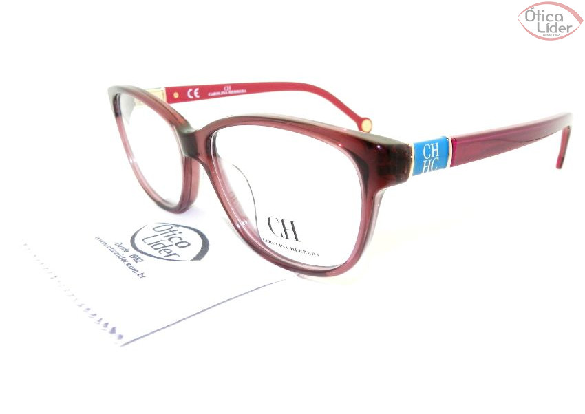 Carolina Herrera VHE590 04gb 53 Acetato Vinho