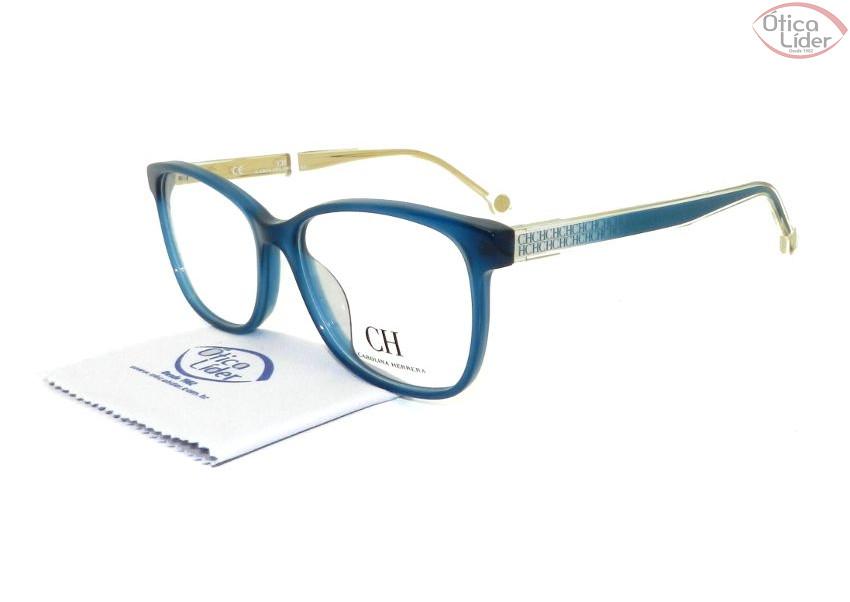 Carolina Herrera VHE 676 0u36 54 Acetato Azul   Bege - 12x sem juros ... 5ccbf9d578
