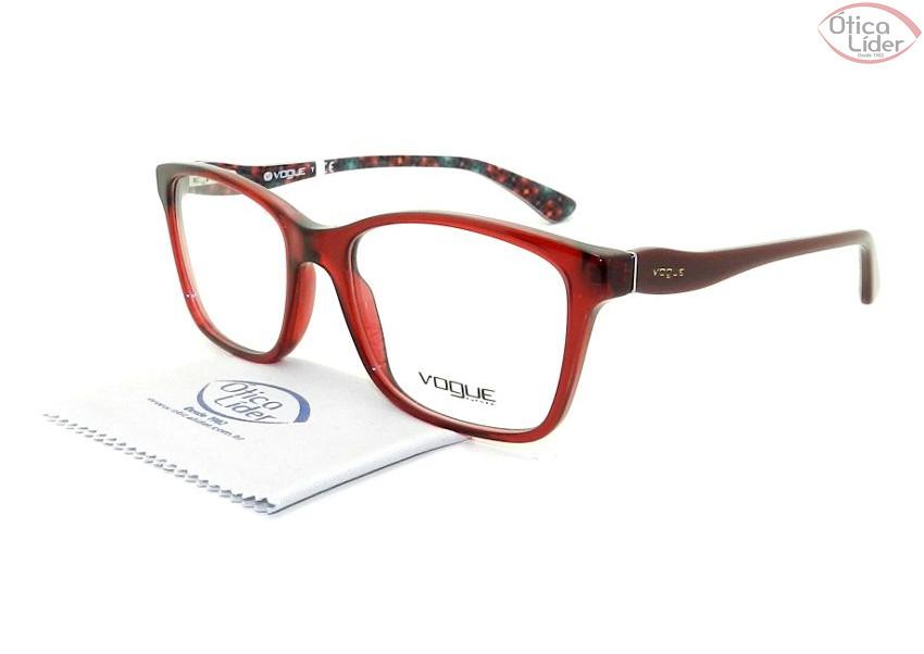Vogue VO 2907 2257 54 Acetato Vermelho   Bordô - 12x sem juros ou 20 ... dc7e036b3c