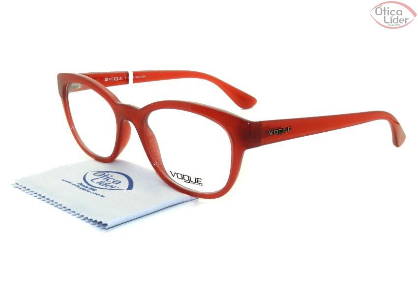 Vogue VO2934lm 2290 51 Acetato Vermelho - Óculos de Grau - 12x sem ... 9ce3b7a4ab