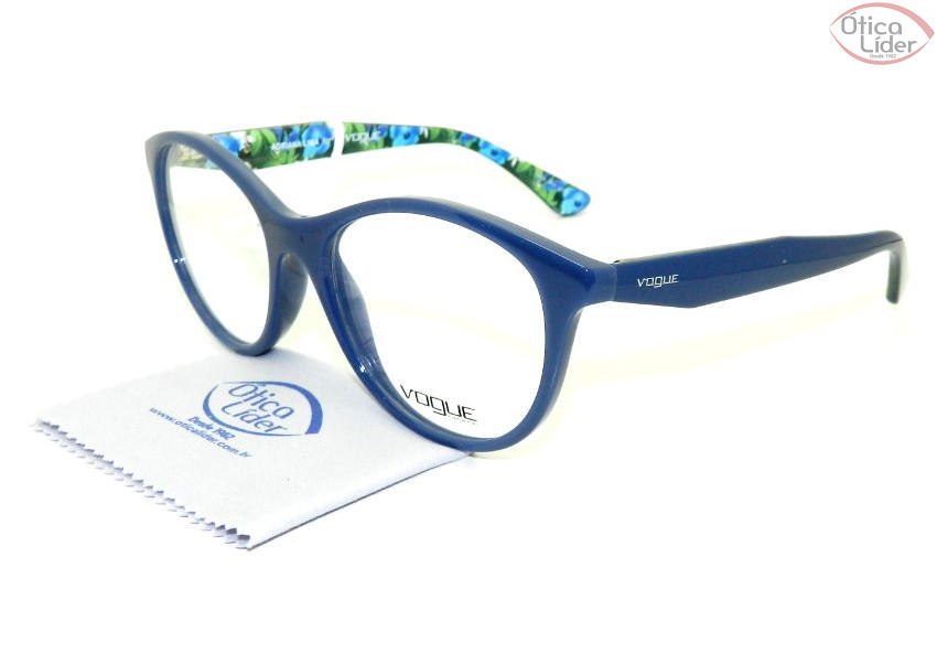 29c586f780cd3 Vogue VO2988l 2325 53 Acetato Azul Floral - 12x sem juros ou 20% OFF ...
