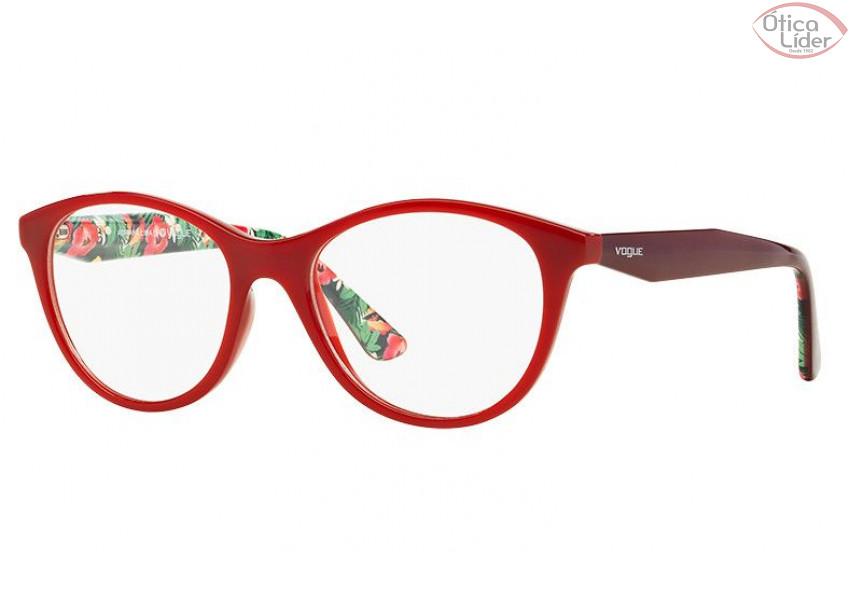 1800d1b904e3c Vogue VO 2988l 2340 53 Acetato Vermelho Floral - 12x sem juros ou 20 ...