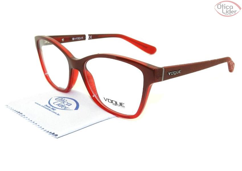 Vogue VO2998 2348 54 Acetato Vermelho   Bordô 5d3ca2df51