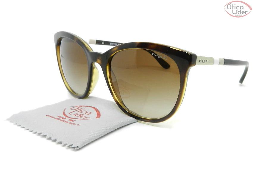 Vogue VO5123-sl w65613 56 Acetato Havana / Bege e Branco