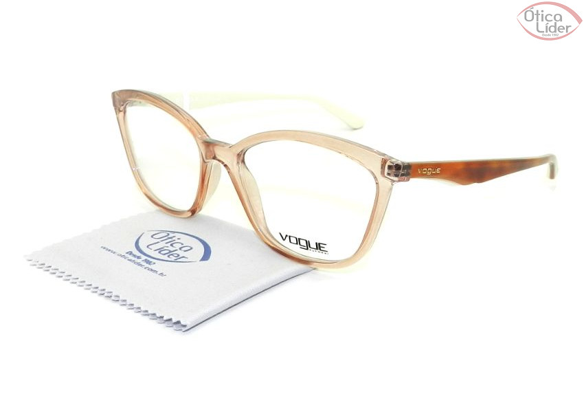 f9da655e69c47 Vogue VO 5128l 2502 53 Acetato Rosa Transparente   Demi - 12x sem ...