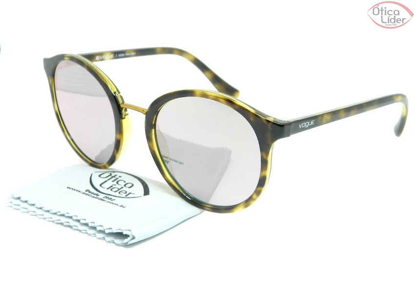 Vogue VO 5166s w6565r 51 Acetato Demi   Metal Dourado - 12x sem ... bccd2f9fab