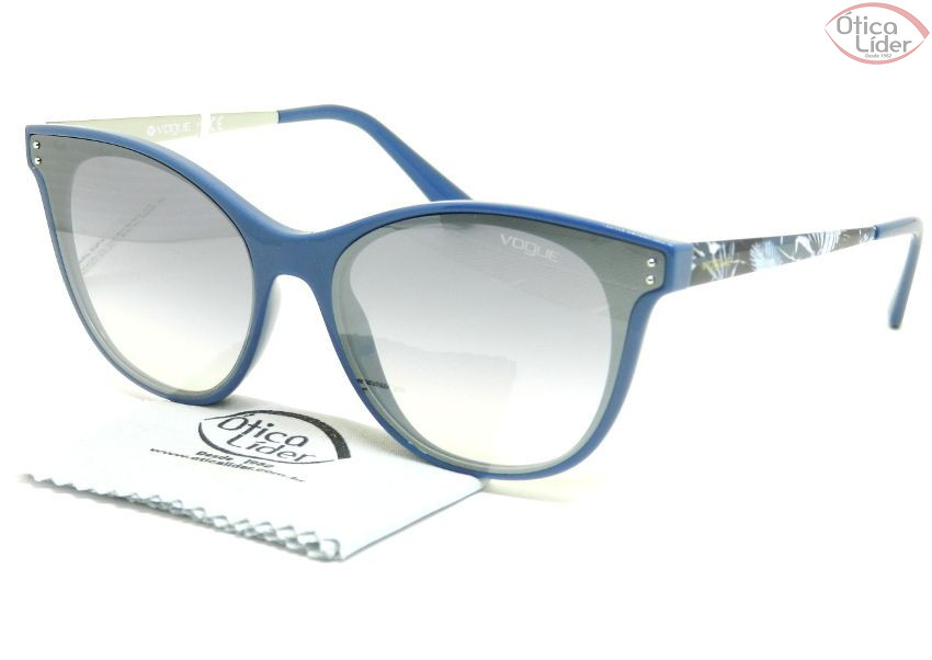 067d74c3be486 Vogue VO5205-s 24167b 62 Acetato Azul   Metal Decorado - 12x sem ...