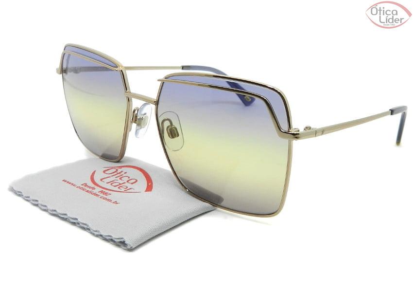 Óculos Web Eyewear WE259 34w 57 Metal Dourado Lente Azul Degradê