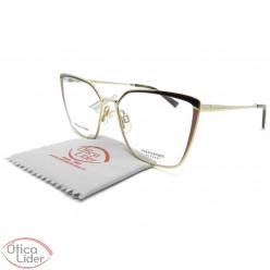 Óculos Ana Hickmann AH1373 04f 55 Gatinho Metal Dourado / Marrom