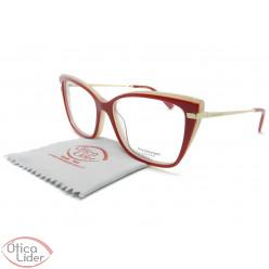 Óculos Ana Hickmann AH6372 h02 55 Acetato Vermelho / Dourado