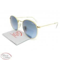 Difaty DF0161 c7 50 Round Metal Dourado Lente Azul Degradê