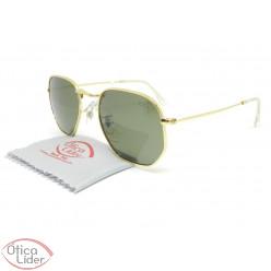 Difaty DF17018 c2 51 Hexagonal Polarizado Metal Dourado Lente Verde