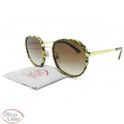 Dolce & Gabbana DG2227-j 02/13 52 Metal Dourado / Decoração Leopardo