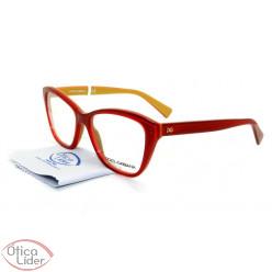 Dolce & Gabbana DG3249 2968 53 Acetato Vermelho / Dourado