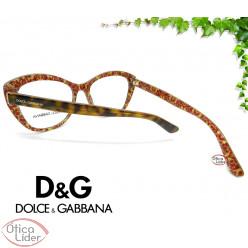 Dolce & Gabbana DG3284 3204 53 Acetato Havana / Glitter