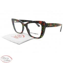 Dolce & Gabbana DG3308 3229 51 Acetato Preto Floral
