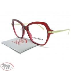 Dolce & Gabbana DG3311 3211 51 Bordô Transparente / Dourado